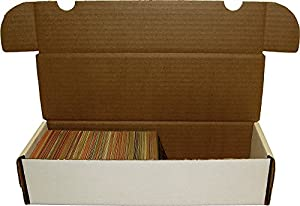 BCW 660 Count- Corrugated Cardboard Storage Box - Baseball, Football, Basketball, Hockey, Nascar, Sportscards, Gaming & Trading Cards Collecting Supplies