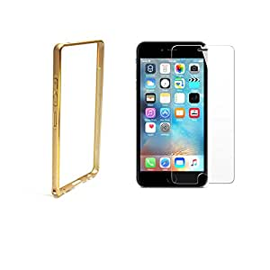 Gold Bumper With Tempered Glass For Iphone 6/6s