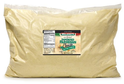 Milano's Imported Grated Parmesan Cheese Bags, 400-Ounce