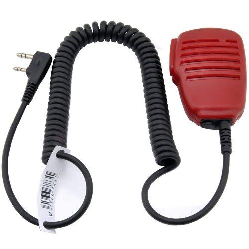 Red Rainproof Shoulder Remote Speaker Mic Microphone Ptt For 2-Pin Kenwood Nexedge Hytera Puxing Wouxun Radio