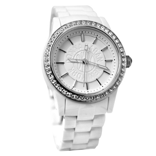 DKNY Ladies Watch NY8011 with White Dial and White Plastic Strap