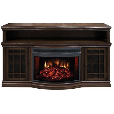 """Dwyer 57"""" Tv Stand With Electric Fireplace Finish: Espresso front-422788"""