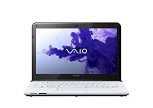 Sony VAIO E14 Series SVE14122CXW 14-Inch Laptop (2.5 GHz Intel Core i3-3110M Processor, 4GB DDR3, 500GB HDD, Windows 8) White