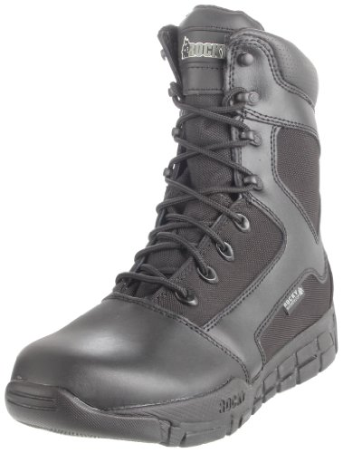 Rocky Men's Duty Light Waterproof Work Boot,Black,11 W US