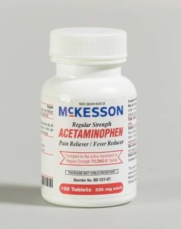 McKesson Acetaminophen Tablets - Regular Strength (325 mg) Bottle - 1000 tablets аксессуар cityup губка из микрофибры ca 147