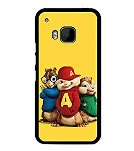 printtech Funny Cartoon Squirrel Back Case Cover for HTC One Hima
