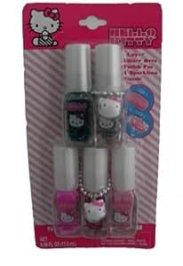 Amazon.com : Hello Kitty Nail Polish - 5 Multi-Pack : Beauty