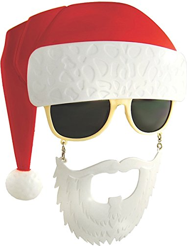 Sunstaches Santa Claus Sunglasses Cosume Mask - 1