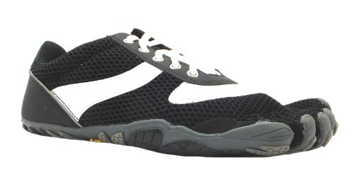 Men's M368 Speed Vibram Five Fingers Black Lace Up Barefoot Running Trainers