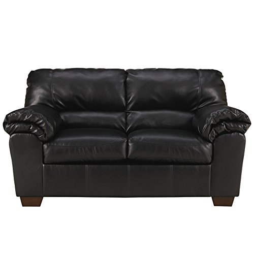 Flash Furniture Commando Living Room Set, Black Leather