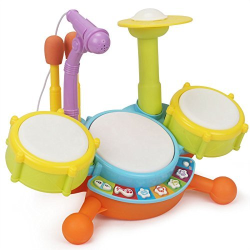Topwon-Kids-Todder-Rock-Band-Drum-Toy-Set-1-3-Years-Old