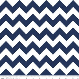 Amazon Chevron Stripe Navy Blue Flannel Fabric SKU