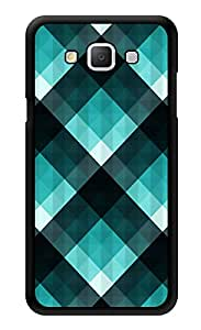 "Humor Gang Turquoise Checks Printed Designer Mobile Back Cover For ""Samsung Galaxy A3"" (3D, Glossy, Premium Quality Snap On Case)"