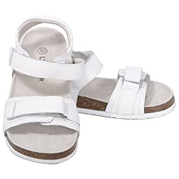 L\'Amour Toddler Girls 10 White Soft Footbed Strap Sandals