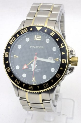 Nautica Greenwich Mean Time Two-tone Bracelet Men's Watch #N24520G