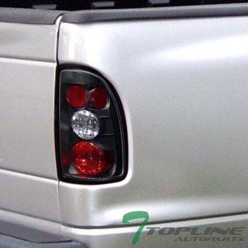 Topline Autopart JDM Black Altezza Tail Lights Rear Brake Lamps 97-04 Dodge Dakota TruCK Cab Jy (Cab Lights Dodge Dakota compare prices)