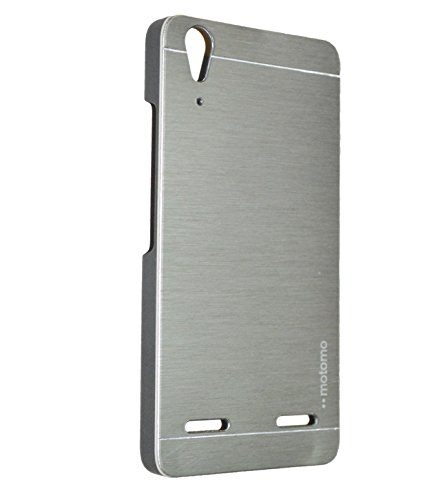 AE MOTOMO METAL HARD BACK COVER CASE FOR LENOVO A6000/A6000PLUS SILVER