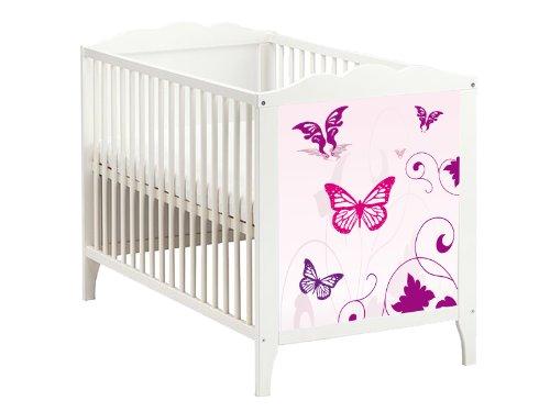 butterfly m belsticker aufkleber f r das babybett hensvik von ikea bb07. Black Bedroom Furniture Sets. Home Design Ideas