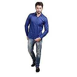 Akaas Men's Formal Shirt_COMBOS OF 2_(BLACK&BLUE