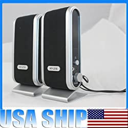 120w USB Power Speakers for Dell Toshiba Sony Lenovo Laptop Desktop Computer Pc with Ear Jack New