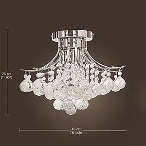 Modern Chandelier Crystal 3 Lights by LOCO LAMP