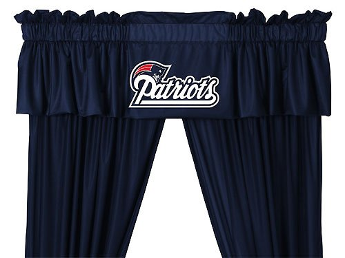 NFL New England Patriots - 5pc Jersey Drapes-Curtains and Valance Set