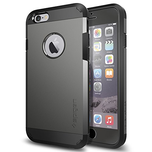 iPhone 6 ケース, Spigen® [全面保護ケース] タフ・アーマー FX Apple iPhone 4.7 (2015年 モデル) (国内正規品) (ガンメタル SGP11281)