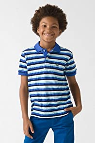 Boy's Short Sleeve Fine Stripe Pique Polo