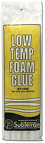 Woodland Scenics ST1446 Low Temp Foam Glue Sticks (10) - 1
