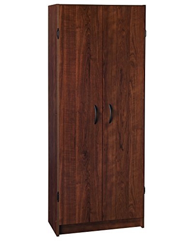 ClosetMaid 1308 Pantry Cabinet, Dark Cherry (Tall Wood Cabinet With Shelves compare prices)