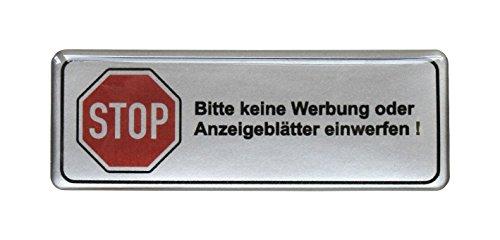 3d-briefkasten-aufkleber-silber-bitte-keine-werbung-70-x-25-mm-exzellenter-wetterschutz-keine-billig