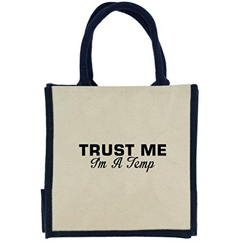 trust-me-i-m-a-temp-in-schwarz-print-jute-midi-einkaufstasche-mit-marineblau-griffe-und-rand