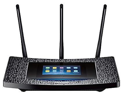 TP-LINK RE590T Répéteur WiFi AC 1900Mbps avec Ecan Tactile (4 Ports Gigabit, Compatibilité Universelle, Installation Facile, Mode Haute Vitesse)