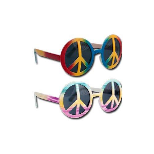 P'TIT CLOWN 40001 Lunettes Plastique - Hippie - Peace and Love - Multicolore