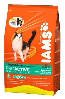Iams Cat Adult Hairball Control With Chicken