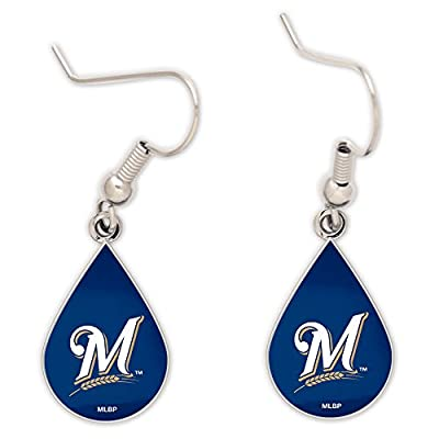 Milwaukee Brewers Tear Drop Earrings