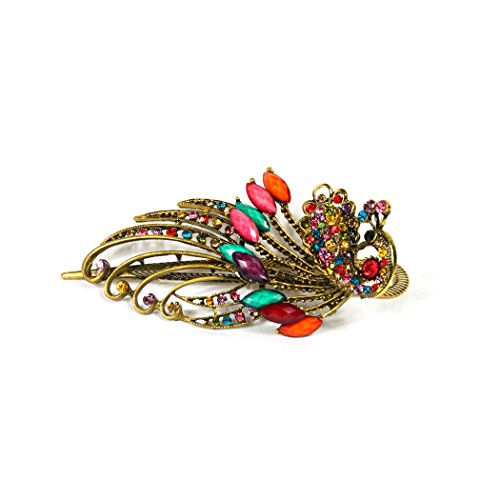 CAETLE ® Lovely Vintage Jewelry Crystal Peacock Hair Clips – for hair clip Beauty Tools