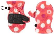 Columbia Unisex Baby Baddabing Mitten, Red Hibiscus Wavy Dot Print, One Size