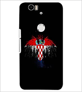 PrintDhaba Logo D-5547 Back Case Cover for HUAWEI NEXUS 6P (Multi-Coloured)