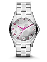 Marc By Marc Jacobs Henry Silver Tone and Pop Pink Watch MBM3266 from Marc Jacobs
