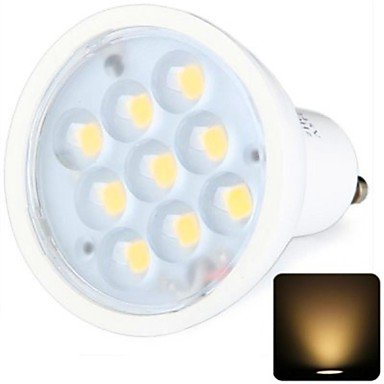 Rayshop - Gu10 3W 9X2936Smd 270Lm 2800-3200K Warm White Light Led Spot Bulb (100-240V)