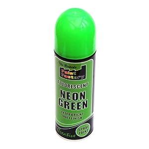 3 X Fluorescent Neon Green Spray Paint Matt 225ml Auto Car Creative Paint