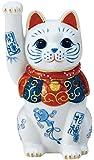 染錦開運招福招き猫(手長右手上げ・4.5号) AM-Y7479