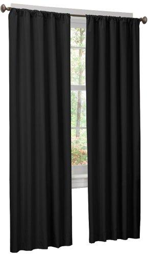 Maytex Micro Fiber Window 2-Pack Panels, 84 Inches, Black