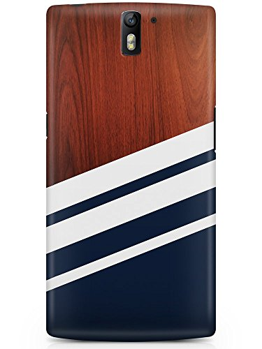 CASE U OnePlus One Case Wood Designer Premium PolyCarbonate Case Back Cover for OnePlus One (Navy Blue