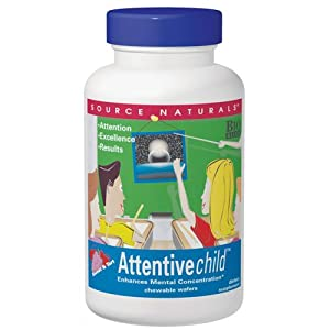 Source Naturals Attentive Child, 120 Chewable Wafers