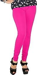 Red Chilli Women's Cotton Slim Fit Leggings (alg_016_rc, Free Size, Fuscia)
