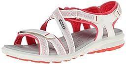 ECCO Women\'s Cruise Sandal,Shadow White/Teaberry,39 EU/8-8.5 M US
