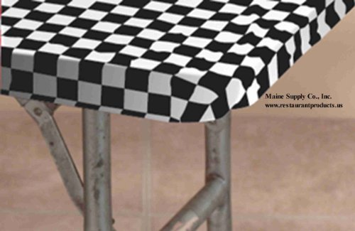 "30"" x 72"" Black & White Check Kwik Covers-6 Pack"