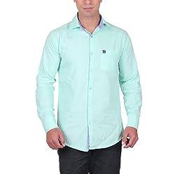 Cotblend Men's Casual Shirt (CB-OXFD-Ocean-M, Blue, M)
